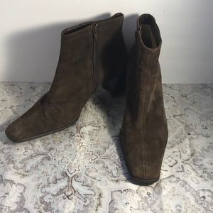 Worthington Brown Suede Ankle Boots Sz 7.5